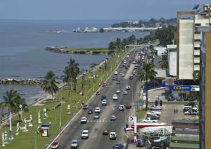 Bord de mer centre ville à Libreville