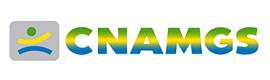 Logotype CNAMGS (CAISSE NATIONALE D'ASSURANCE MALADIE ET DE GARANTIE SOCIALE)