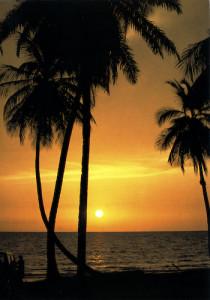 Coucher de soleil sur le bord de mer